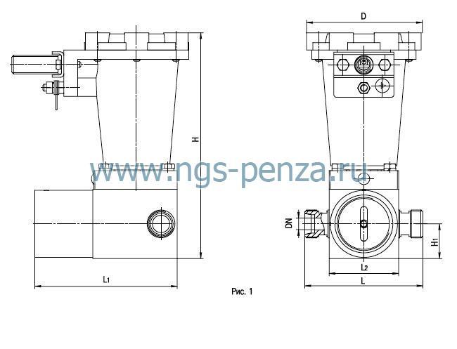Клапан электромагнитный двухпозиционный, ТУ 29.1.-330096208-087:2005