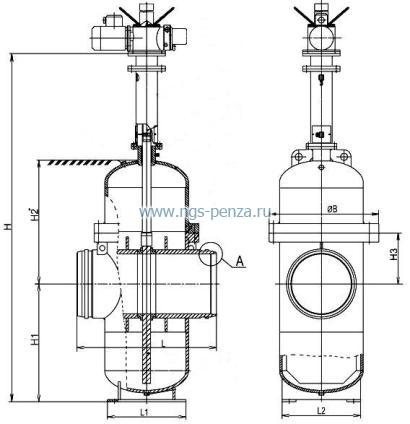 Задвижка шиберная УК 19025