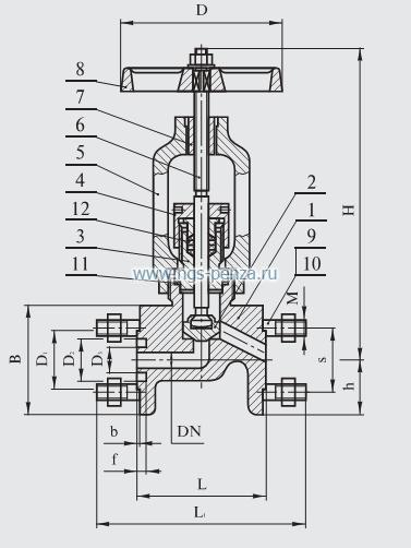 Клапан прямоточный, импортного пр-ва