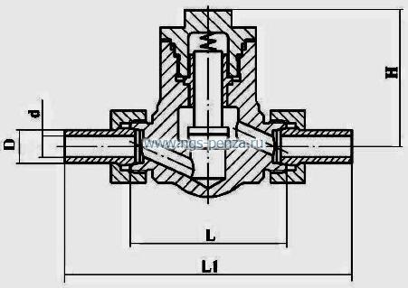 Клапан обратный КПЛВ.494316.002-14
