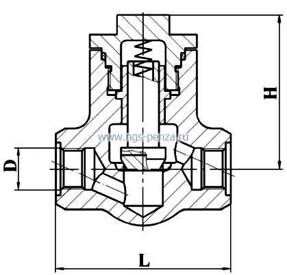 Клапан обратный КПЛВ.494316.001-24
