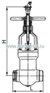 Основные параметры изделия Задвижка клиновая двухдисковая сальниковая 963-300-М: - диаметр 300мм; - давление среды...
