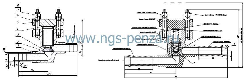 Клапан обратный КПЛВ.494316.001-03
