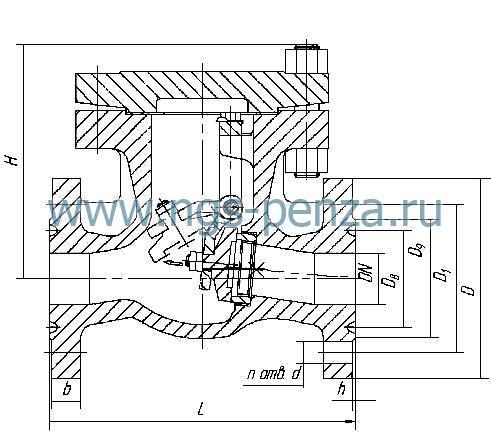 Клапан обратный КОП 50-160нж