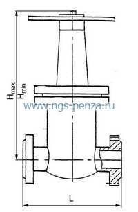Схема задвижки ЗКС-25.