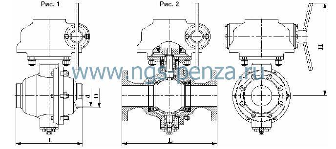 Кран шаровой КПЛВ.492816.001-04