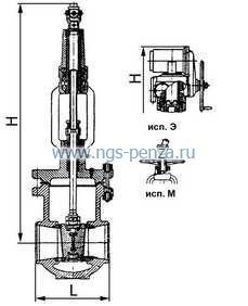 Основные параметры изделия Задвижка клиновая двухдисковая сальниковая 1154-100-Э: - диаметр 100мм...
