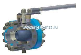 Кран шаровой КСП-80х16-с