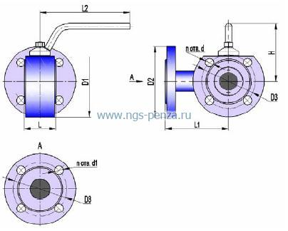 Кран трехходовой КШТ 16-125 РБУС