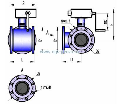 Кран трехходовой КШТ 16-150 РФХ