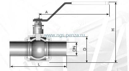 Кран шаровой КШЗ 25-150 РпБУС