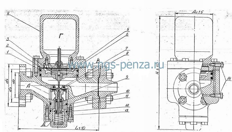Схема регулятора РД-25
