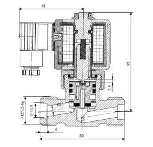 Клапан электромагнитный ВН1Н-02