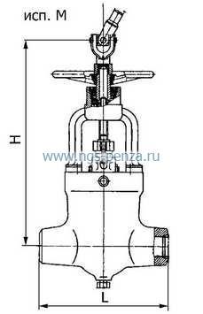 Задвижка клиновая двухдисковая 1120-100-М.  Тип присоединения к трубопроводу: под приварку. ручной (маховик).