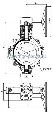 Затвор дисковый ЗПХ 1400/16