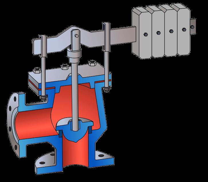 Клапан предохранительный сбросные с поршневым приводом
